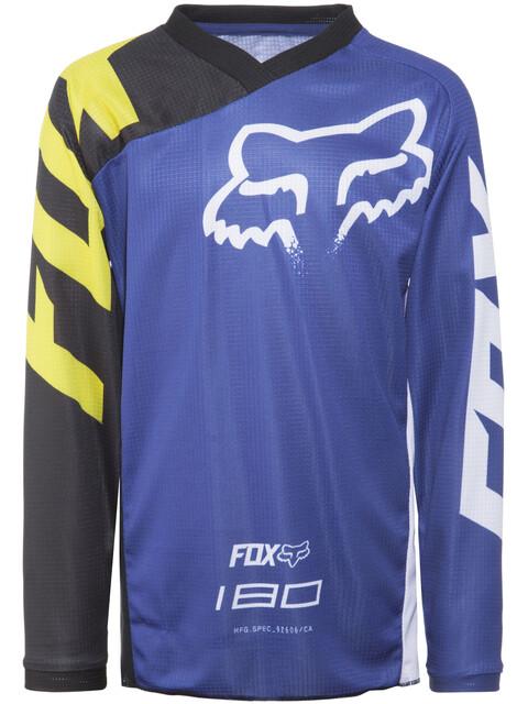 Fox 180 Race Langærmet cykeltrøje Børn blå